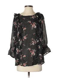 Details About Torrid Women Black 3 4 Sleeve Blouse 00 Plus