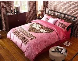 bedding sets queen for girls winter worm velvet fleece comforter sets pink leopard print bedding set queen girls bedding set duvet cover set in bedding sets