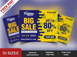 Free Psd Big Sale Web Banner Psd Templates By Psd Freebies