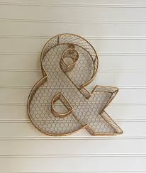 ampersand and sign signage metal wall decor rustic wire simple vector symbol ampersand clip art