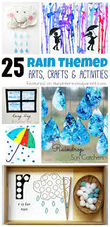 Integrated Arts Activity 25 Rain themed arts, crafts and activities for the  spring. Kids arts and crafts ideas. Painting, science Toddlers and  preschoolers