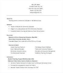 Free Curriculum Vitae Template Unique Resume Outline Format Resume Outline Format Free Resume For Teachers