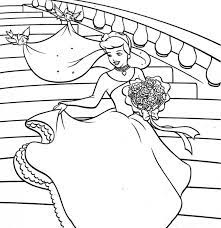 Tranh tô màu công chúa lọ lem tuyệt đẹp dành riêng cho các bé