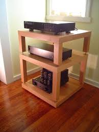 Another great looking HIFI rack built from IKEA Lack side tables. So clean  and professional