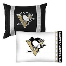 Pittsburgh Penguins Bedroom Decor 2pc Nhl Pittsburgh Penguins Pillowcase And Pillow Sham Set Hockey