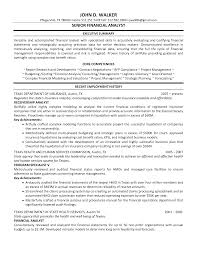 Best Ideas Of Sample Financial Analyst Resume Sample Resume Format