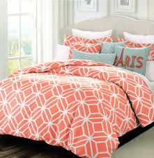 orange and white sheets