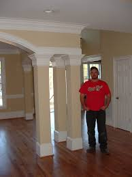 Column Molding Ideas Interior Contemporary Home Interior Design Using White Interior