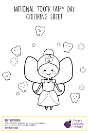 Tooth coloring pages coloring pages dental coloring pages printable picture. Free Printable Activity Pages National Tooth Fairy Day Purple Ladybug Plbfun