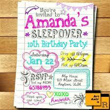 sleepover template slumber party invitations blonde hair girl pajama party pajama party