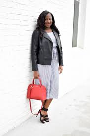 faux leather moto jacket and old navy jumpsuit by popular atlanta fashion blogger xo jasmine