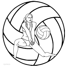 Small Picture Printable Coloring Sheet Of Volleyball Online ms volleyball