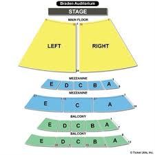 Braden Auditorium Seating Chart 30 Logical Braden Chart