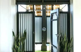 outdoor patio and backyard medium size corrugated metal decking shower roofing panels ideas