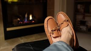 <b>Men's</b> Comfortable Genuine <b>Leather Soft Sole</b> Indoor Moccasin ...