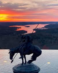 Glorious sunset view from Top of the Rock at @bigcedarlodge | Top of the  rock