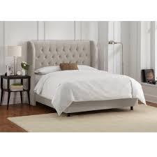 Velvet Light Grey California King Tufted Wingback Bed-414BEDVLVLGHGR ...