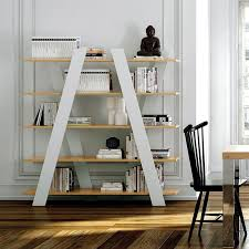 wind bookcase in oak and white by temahome