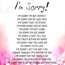 Im Sorry Quotes For Her Interesting Sorry For Love Quotes And Sorry Message Apologize To Him For