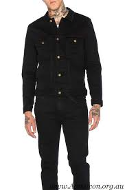 men s denim jackets rolla s denim jacket black