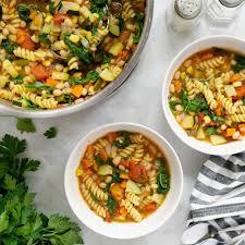healthy minestrone soup slender kitchen