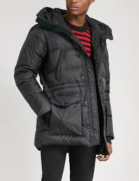 Canada Goose. Mens Black Silverthorne Hooded Quilted Shell-down Parka Jacket  ...