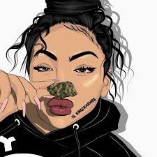 Cute Black Girl Drawing Wallpaper