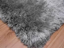 plush silver gy rug