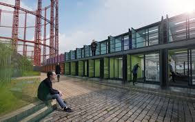 container office building. Containerville, London\u0027s Shipping Container Office Space Building N