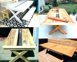 full size of small wooden outdoor table designs patio plans free round wood picnic rustic with large
