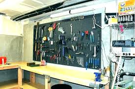 pegboard garage wall clever garage storage ideas from highly organized people