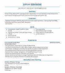 Environmental Health Safety Engineer Sample Resume Awesome Environmental Health Officer Resume Sample LiveCareer