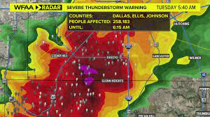 Severe thunderstorm warnings issued ...