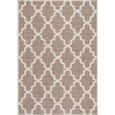 nuloom gina moroccan trellis taupe 6 ft x 9 ft outdoor area rug