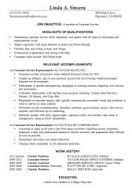 Free Resume Sample Resume Sample Customer Service Positions