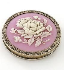 vintage compact mirror. cameo compact russian hallmarked c1935-45 #antique #vintage #compact vintage mirror 0