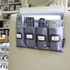 g u s 5 pocket sofa armrest organizer with custom labels tv remote control organizer holder