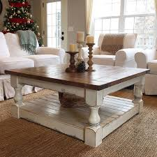 Furniture  Rustic Wood Coffee Table Ideas With Square Shape Top Coffee Table Ideas