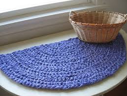 crochet semi circle rug pattern