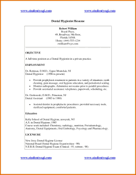 Resume Objective Dental Hygienist Cover Letter Example For Assi Sevte