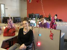 office christmas decoration. Delighful Christmas The Colter Team Of Maggie Rose Foreground Nicole Barnes And Ana  Rodriguez With Office Christmas Decoration M