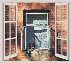 wood window building city home wall living room room brick door brick wall interior design open