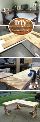 stunning natural brown wooden diy corner desk. Check Out The Tutorial How To Build A DIY Corner Desk Stunning Natural Brown Wooden Diy E