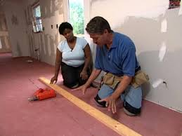 How to install bamboo flooring Laminate Nail Batten Boards As Guide Down Laser Line Diy Network How To Install Bamboo Plank Flooring Howtos Diy