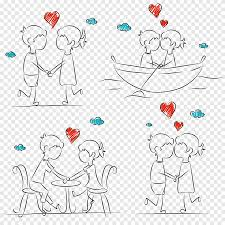 boy and collage drawing couple