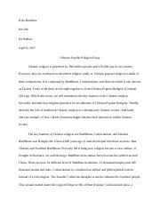 buddhism essay recovered docx kyla hawkins int dr ballew  5 pages chinese popular religion docx