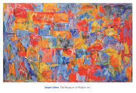 jasper johns map lg 2016 poster johns jasper