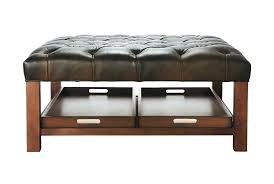 storage ottoman coffee table. Brown Leather Ottoman Coffee Table Tufted . Storage