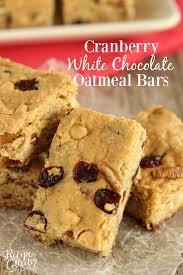 cranberry white chocolate oatmeal bars a super easy cookie bar filled with dried cranberries