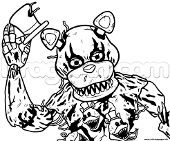 Five Nights At Freddys Fnaf Coloring Pages Free Printable Fnaf